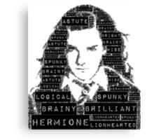 Hermione Word Art Canvas Print