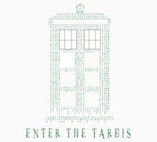 Enter The Tardis Kids Tee