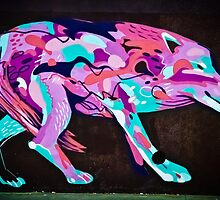 Psychedelic Graffiti art Wolf by yurix
