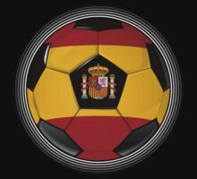 Spain - Spanish Flag - Football or Soccer by graphix