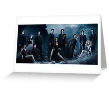Vampire Diaries Season 5 Cast Greeting Card