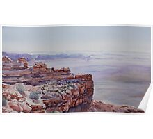 Looking Down From Moki Dugway Poster