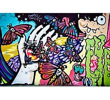 Hallucinogenic Graffiti Art.Back to sixties Photographic Print