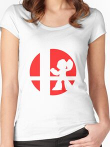 Megaman - Super Smash Bros. Women's Fitted Scoop T-Shirt