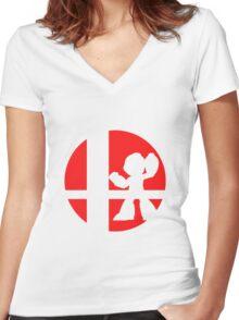 Megaman - Super Smash Bros. Women's Fitted V-Neck T-Shirt
