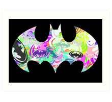 Batman Word Art Art Print