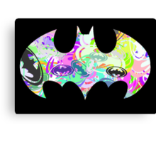 Batman Word Art Canvas Print