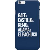 Gaff & Castillo & Kemo & Adama & El Pachuco (blue) iPhone Case/Skin