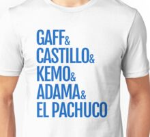 Gaff & Castillo & Kemo & Adama & El Pachuco - Blue Unisex T-Shirt