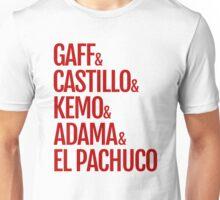 Gaff & Castillo & Kemo & Adama & El Pachuco - Red Unisex T-Shirt