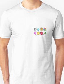 Got all 8 badges(Without Pocket) T-Shirt