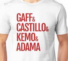 Gaff & Castillo & Kemo & Adama - Red Unisex T-Shirt