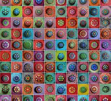 Jewel Drop Mandala Mosaic by Elspeth McLean