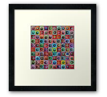 Jewel Drop Mandala Mosaic Framed Print