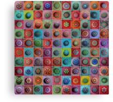 Jewel Drop Mandala Mosaic Canvas Print