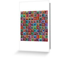 Jewel Drop Mandala Mosaic Greeting Card