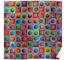 Jewel Drop Mandala Mosaic Poster