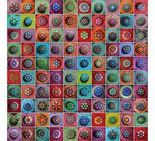 Jewel Drop Mandala Mosaic Photographic Print