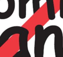 Ban Comic Sans Sticker