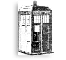 Tardis Word Art Metal Print