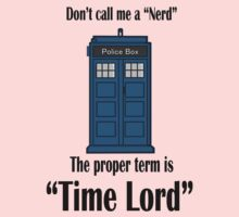 "The Term is ""Time Lord"" Kids Tee"