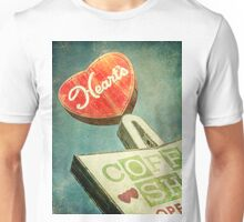 Heart's Coffee Shop Vintage Sign Unisex T-Shirt