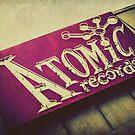 Atomic Records Vintage Sign by Honey Malek