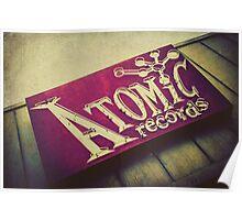 Atomic Records Vintage Sign Poster