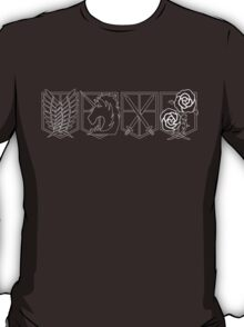 Attack on Titan Crests - Lines T-Shirt
