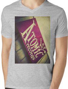 Atomic Records Vintage Sign Mens V-Neck T-Shirt