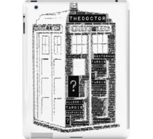 Tardis Word Art iPad Case/Skin