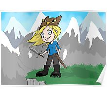 Yogscast Hannah on a Mountain Poster