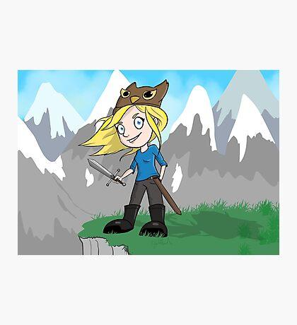 Yogscast Hannah on a Mountain Photographic Print