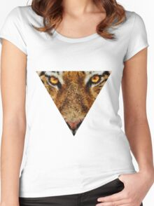 Animal Art - Tiger Women's Fitted Scoop T-Shirt