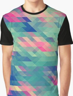 Abstract Triangles Geometric Pattern Graphic T-Shirt