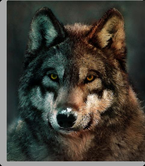 Animal Art - Wolf by Maximilian San