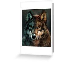 Animal Art - Wolf Greeting Card