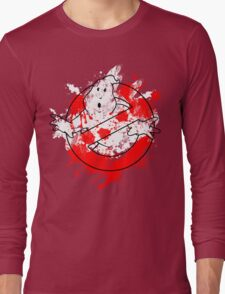 Ghostbusters Logo Paint Splatter Outline Long Sleeve T-Shirt