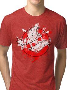 Ghostbusters Logo Paint Splatter Outline Tri-blend T-Shirt