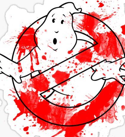 Ghostbusters Logo Paint Splatter Outline Sticker
