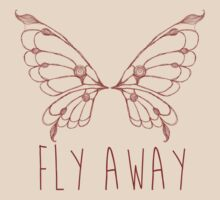 Fly Away Butterfly by geekchicprints