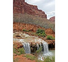 Lower Navajo Falls of Havasu Creek  Photographic Print