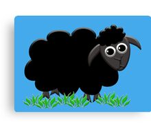 Solo Black Sheep Canvas Print