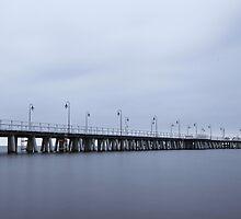 Orlowo Pier at Dusk by Maciej Nadstazik