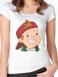 8-Bit TJ Detweiler Women's Fitted Scoop T-Shirt