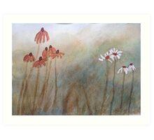 Watercolour Daisies Art Print