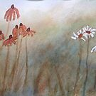 Watercolour Daisies by Suze Chalmers