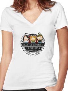 Nirvana Women's Fitted V-Neck T-Shirt