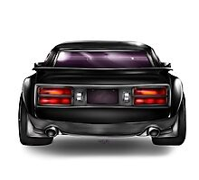 Modified Black Datsun Z Photographic Print