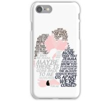 Fitzsimmons' Minimal Kiss Art Quotes iPhone Case/Skin